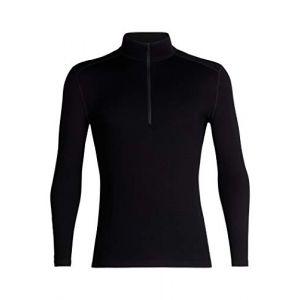 Icebreaker Vêtements intérieurs 260 Tech L/s Half Zip - Black - Taille XXL