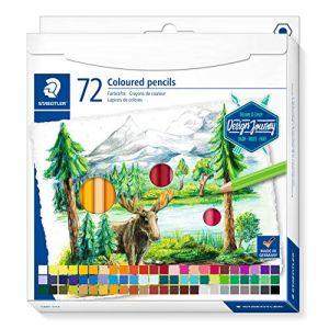 Staedtler Crayons de couleur de haute qualité pour artistes, Mine douce et tendre de 3 mm, Étui carton avec 72 couleurs différentes assorties, 146C C72