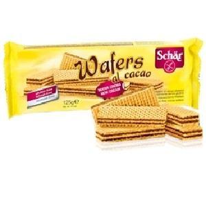 Dr Schär Wafers al cacao - Gaufrettes sans gluten au cacao (125g)