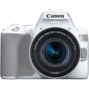 Canon Appareil photo Reflex EOS 250D Blanc 18-55 IS STM