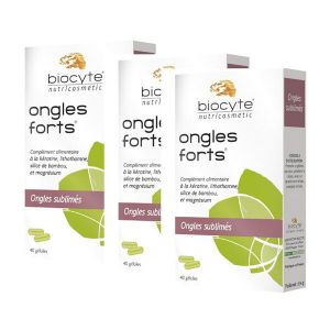 Biocyte Ongles Forts (Lot de 3 x 40 gélules)