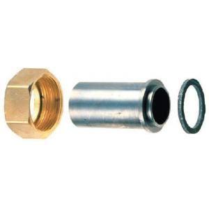 Banides et Debeaurain 0190453 - Raccord droit deux pièces. écrou 50x60 à joint plat gaz à souder sur acier 48.9