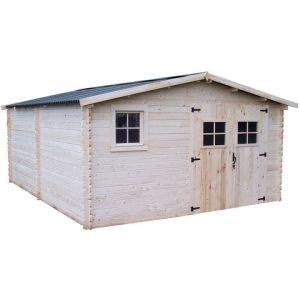 Foresta Balta BA 4050.02 - Abri de jardin en bois 28 mm 18,27 m2 (montage inclus)
