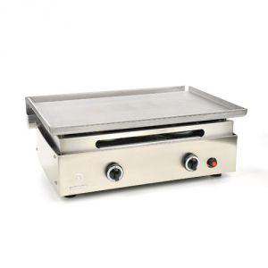 Verycook 430 - Plancha au gaz plaque de cuisson en inox 2 brûleurs
