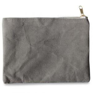 Pochette en tissu gris (21x16cm)