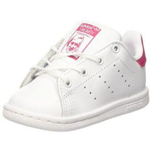 Adidas Stan Smith I, Chaussons Mixte Bébé, Blanc (Ftwbla/Rosfue 000), 19 EU