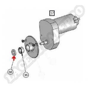 Procopi 1016048 - Rondelle plastique JT8 moteur traction Clean & Go