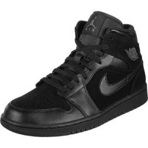 Nike Chaussure Air Jordan 1 Mid - Homme - Noir - Taille 42 - Male