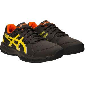 Asics Gel-Game 7 GS, Chaussures de Tennis Mixte Enfant, Noir (Black/Sour Yuzu 011), 37 EU