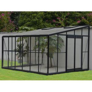 Chalet et Jardin Serre de jardin adossée Solarium 9,61m² avec embase