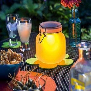 Esotec Lampe solaire en forme de bocal en verre couleur au choix 102078