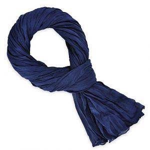 Allée du foulard Echarpe Chèche coton bleu marine uni bleu - Taille Unique