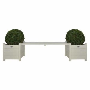 Esschert design CF33 - Banc de jardin avec bacs à fleurs