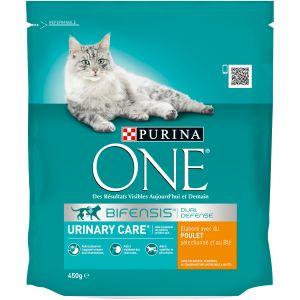 Purina ONE - Croquettes Urinary Care au poulet et riz - Pour les chats - 450g