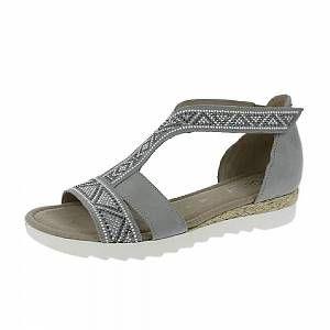 Gabor Shoes Comfort Sport, Sandales Bride Cheville Femme, Gris (Ltgreyjute/Motiv), 37.5 EU