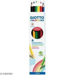 Giotto Etui de 6 crayons de couleurs Colors 3.0