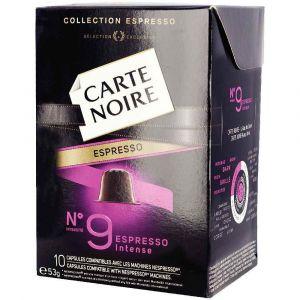 Carte Noire Espresso Intense N°9 10 Capsules Compatibles avec Les Machines à Café Nespresso 53 g