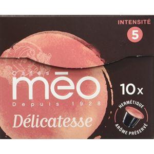 Méo 10 capsules Délicatesse hermétiques compatibles Nespresso