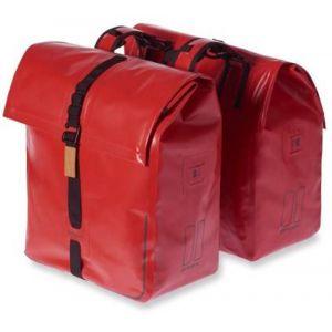 Basil Urban Sacoche double, rouge, 20 x 15 x 15 cm
