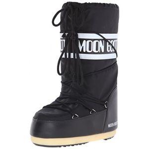 Moon boot Nylon - Noir Noir - Femme, Homme