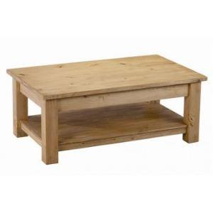 Couleurs des alpes table basse rectangulaire heidi en pin for Table de salon en pin massif