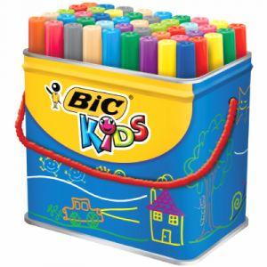 Bic Maxi pot de 48 Visacolor XL, 18 couleurs assorties.