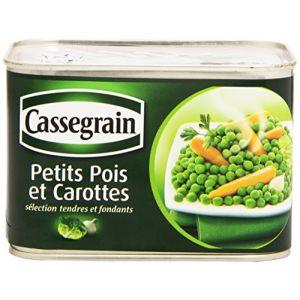 Cassegrain Petits pois et carottes, mélange printanier à l'étuvée - La boîte de 468g