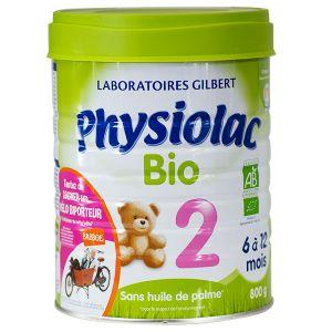 Physiolac Lait Bio 2ème âge 800g - de 6 à 12 mois