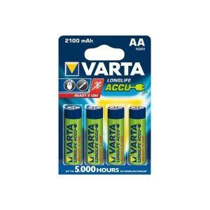 Varta Longlife blister de 4 batteries HR06 AA 2100 mAh