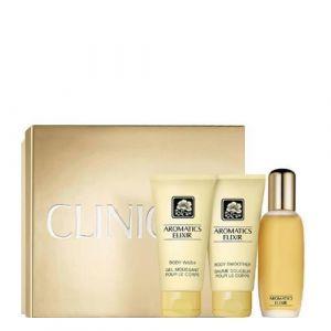 Clinique Aromatics Elixir - Coffret eau de parfum, baume douceur corps et gel moussant