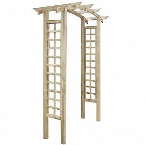 Image de VidaXL Arche de jardin en bois avec treillis 150 x 50 x 220 cm