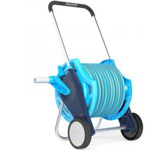 Cellfast Professional ensemble tuyau d'arrosage de chariot enrouleur de tuyau d'arrosage y compris proffesional tuyau de 20m et au pistolet