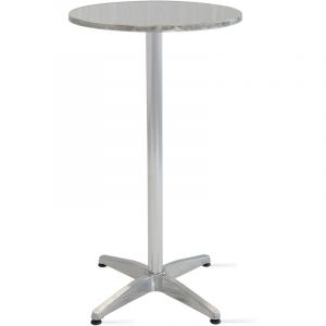 Table de bar, table haute en aluminium