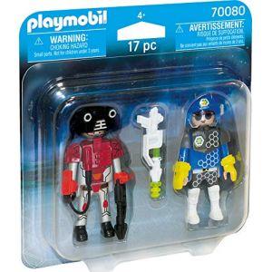 Playmobil 70080 - Policier de l'espace et robot Space