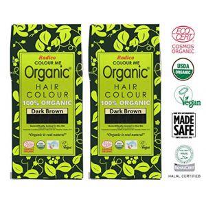 Radico Colour Me Organic - Coloration pour cheveux biologique - Brun foncé