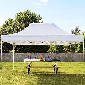 Intent24 Tente pliante 3x4,5 m sans bâches de côté blanc ignifugee PROFESSIONAL tente pliable ALU pavillon barnum.FR