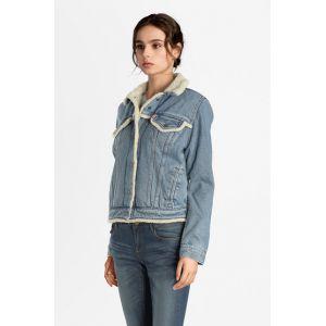 Levi's Veste en jean Sherpa Tucker en coton Bleu