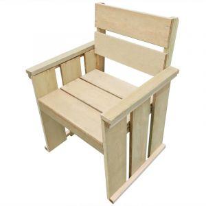 VidaXL Chaise de salle à manger de jardin Pin imprégné FSC 61x56x89 cm