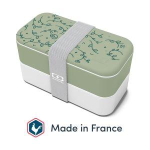 monbento Original Bento Box Plastique Jardin Anglais 18,5 x 9,4 x 10 cm