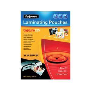 Fellowes 25 pochettes de plastification à chaud Capture format A5 (125 µ)