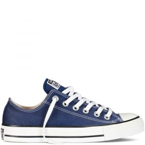 Converse Chaussures casual unisexes Chuck Taylor All Star Basses Toile Bleu marine - Taille 42,5