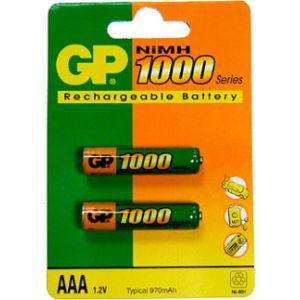 GP Blister de 2 piles rechargeable LR03 1000 mAh
