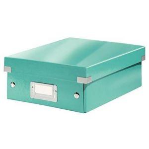 Leitz 6057-00-51 - Boîte de rangement Click & Store, petit format avec compartiments, en PP, coloris menthe glacée