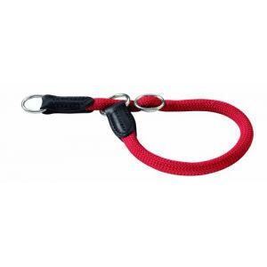 Hunter Collier Freestyle rouge pour chien - taille 60 : jusqu'à 60 cm, 1 cm de diamètre