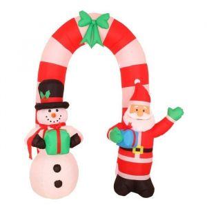 Arche gonflable avec Pere Noël et bonhomme de neige (240 cm)