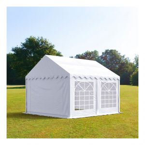 Intent24 Tente de réception 4 x 5 m PVC blanc