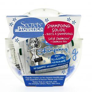 Secrets de provence Shampoing solide anti-pelliculaire avec boîte