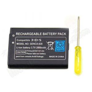 Linke Batterie de rechange 3.7V 2000mAh pour console Nintendo 3DS