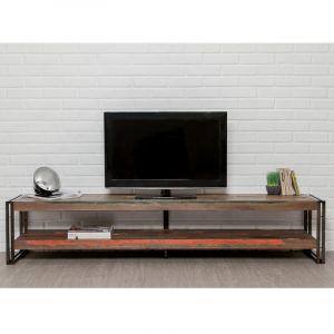 Delorm Design MEUBLE TV LONG EN TECK RECYCLÉ 200 CM - YORK