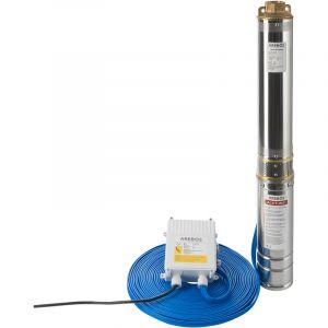Arebos Pompe de puits profond (4 pouces, 750 W, 4000 l/h)